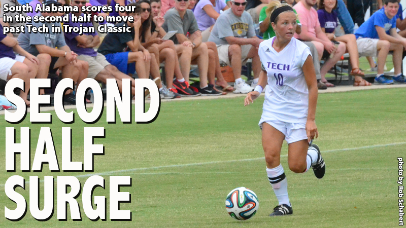 Tech falls victim to strong second half attack in 5-0 loss to South Alabama