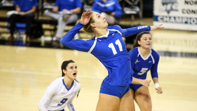 Volleyball Stopped by Bryant, 3-2, in NEC Semifinals