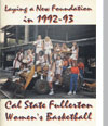 1992-93 Women's Basketball Media Guide Cover