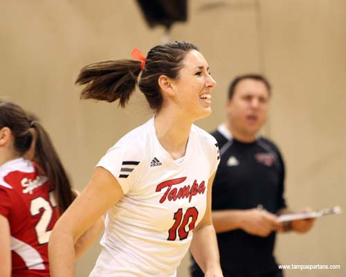 Holly Reschke posted 33 kills in the Spartans two victories