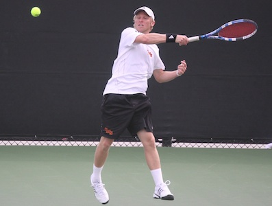 Men's Tennis Moves to 5-0 With Doubleheader Win