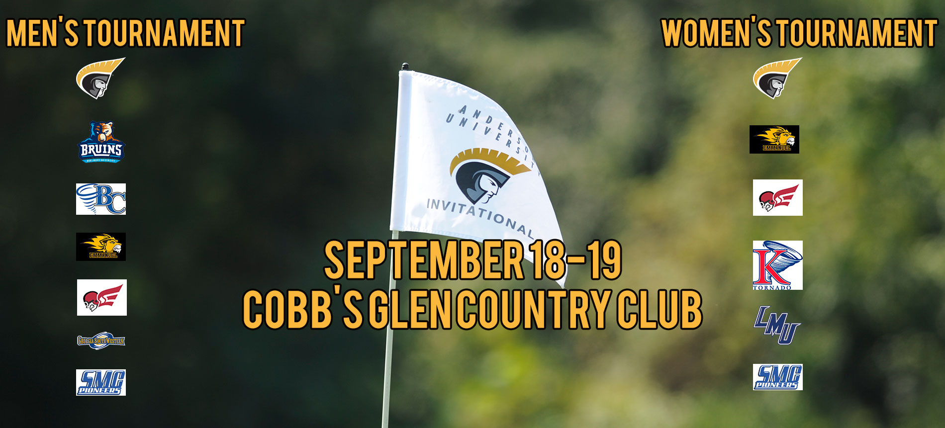 Trojan Men's and Women's Golf Set to Host AU Invitational