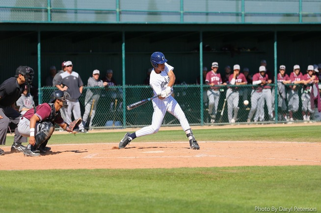 Shea Estrin had a pair of hits and drove in the lone run for the Falcons