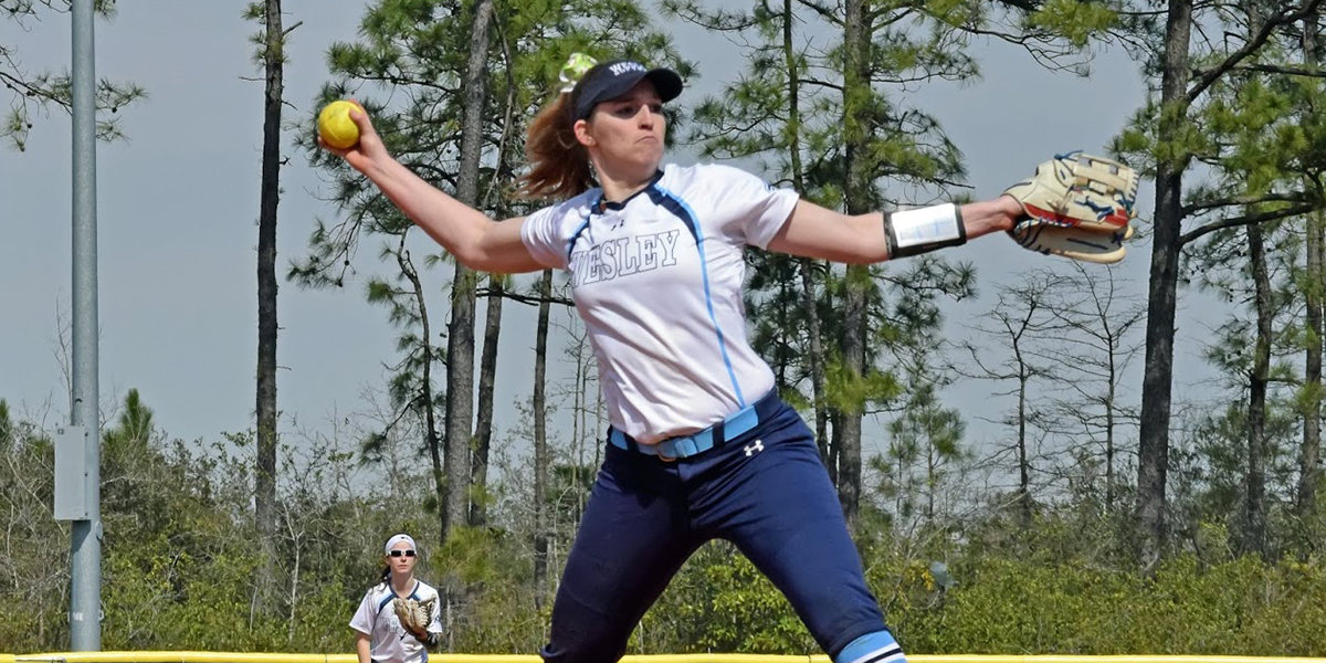 Neel's Complete Game Highlights Softball's Split with Immaculata