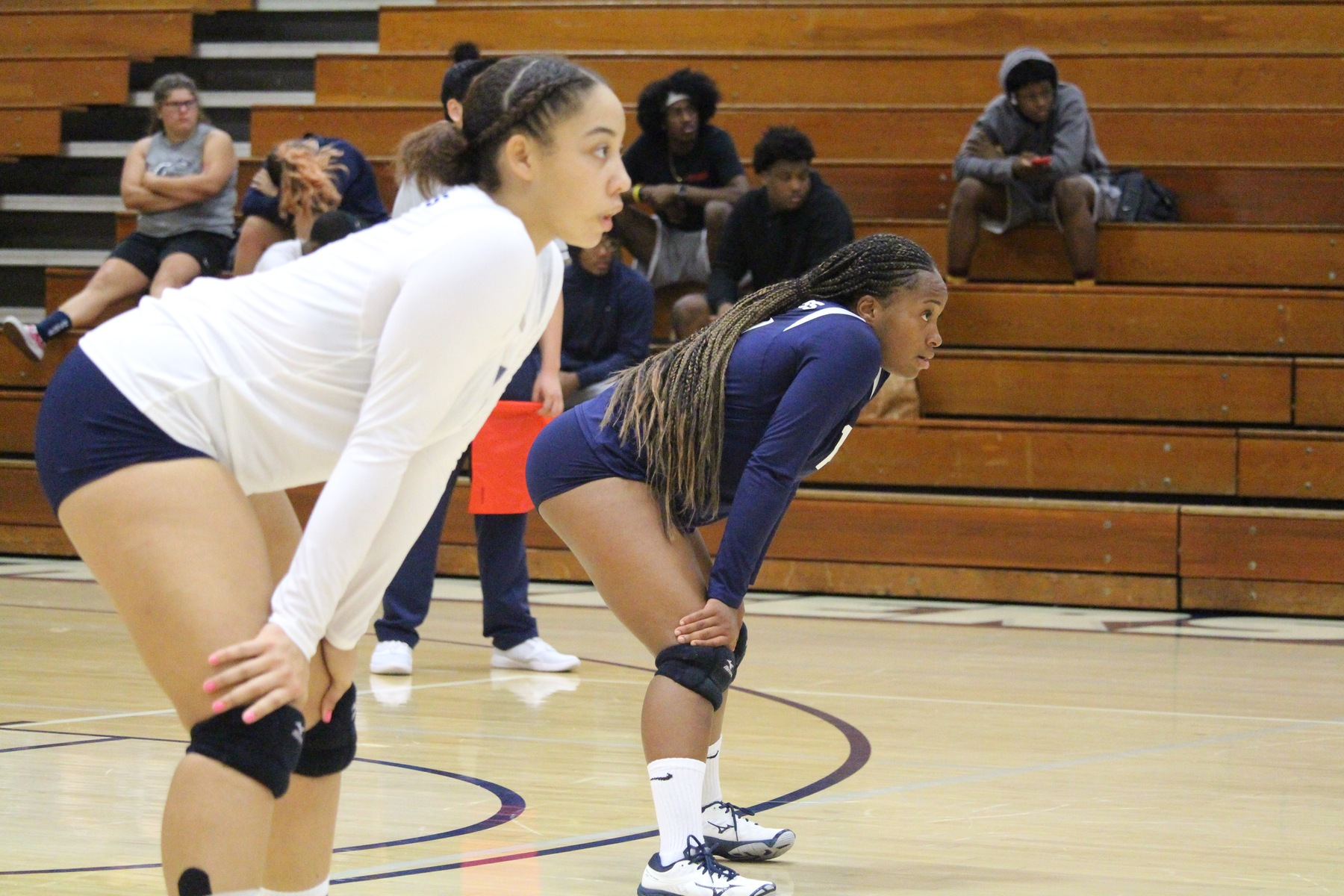 No. 15 Chargers Fight Off Mounties in Four Sets