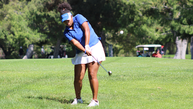 Freshman Angela Adams posted her second lowest round of 2016 during Wednesday's WSC Match hosted by Glendale College.