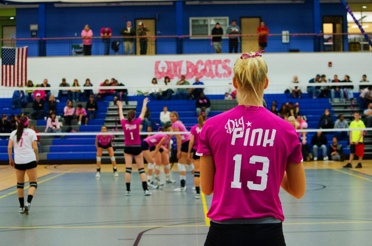 Women's Volleyball Dig Pink Event Tonight at 7 pm