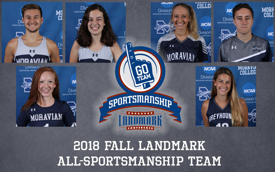 Six Greyhounds named to 2018 Landmark Conference Fall All-Sportsmanship Team