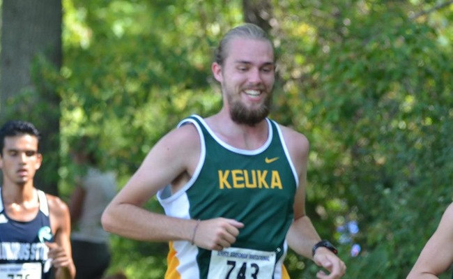 Mack Ottens was the lead runner for the Keuka College Men's team on Friday night