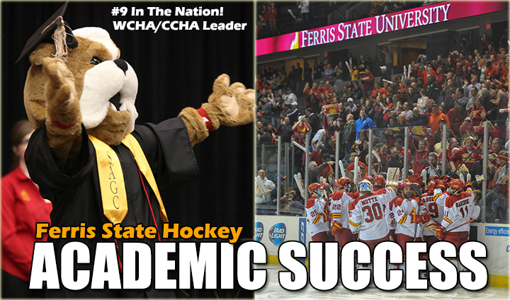 Ferris State Hockey Leads Conference & Ranked Among Top 10 Nationally In NCAA Academic Report