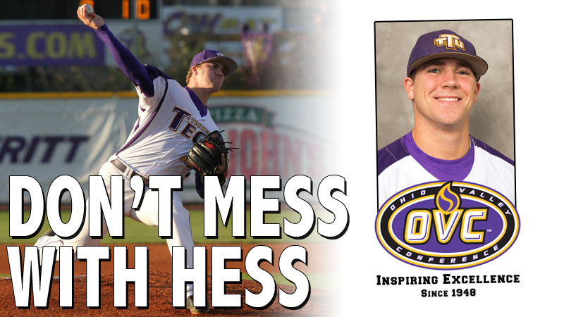 Friday's gem leads Hess to second career adidas® OVC Pitcher of the Week honor