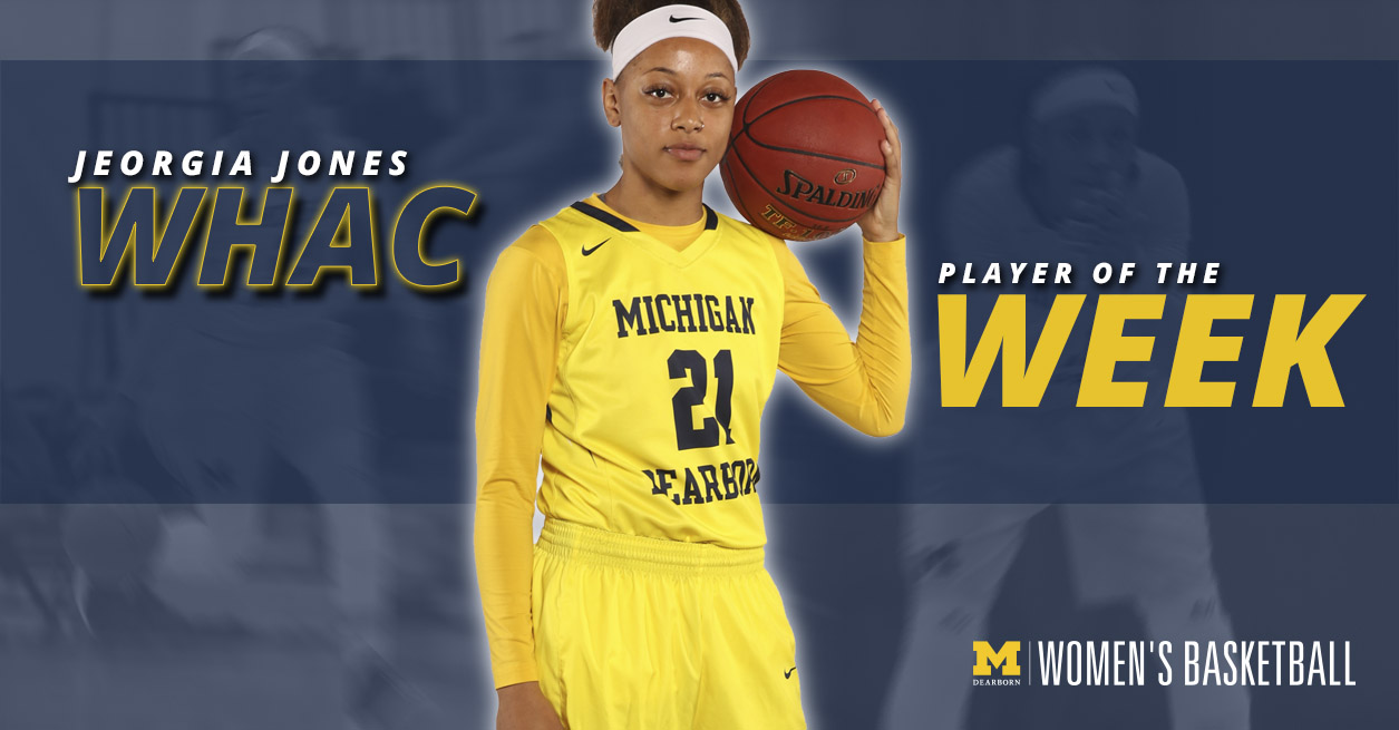 Jones named WHAC Player of the Week