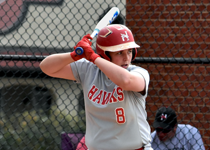 Brandi Blair was 7-for-8 with four doubles and three runs in Sunday's doubleheader at Agnes Scott. (Photo by Wesley Lyle)
