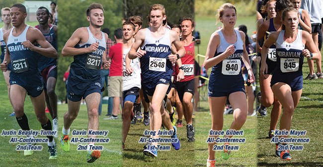 Justin Beasley-Turner '20, Gavin Kemery '20,Greg Jaindl '20, Grace Gilbert '21 and Katie Mayer '20 named to 2017 Landmark All-Conference Cross Country Teams.