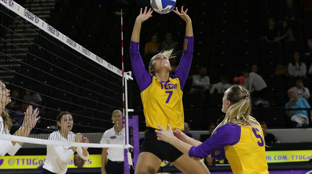 Golden Eagle volleyball falls 3-0 to Jacksonville State on Tuesday evening