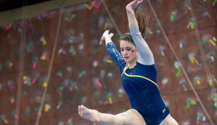 Gymnasts Beat UW-Oshkosh with Season-High Score