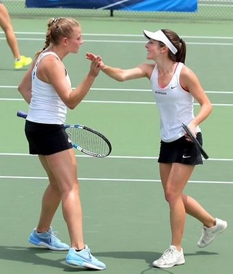 Seniors Joulia Likhanskaia and Sam Stalder were both named ITA All-Americans