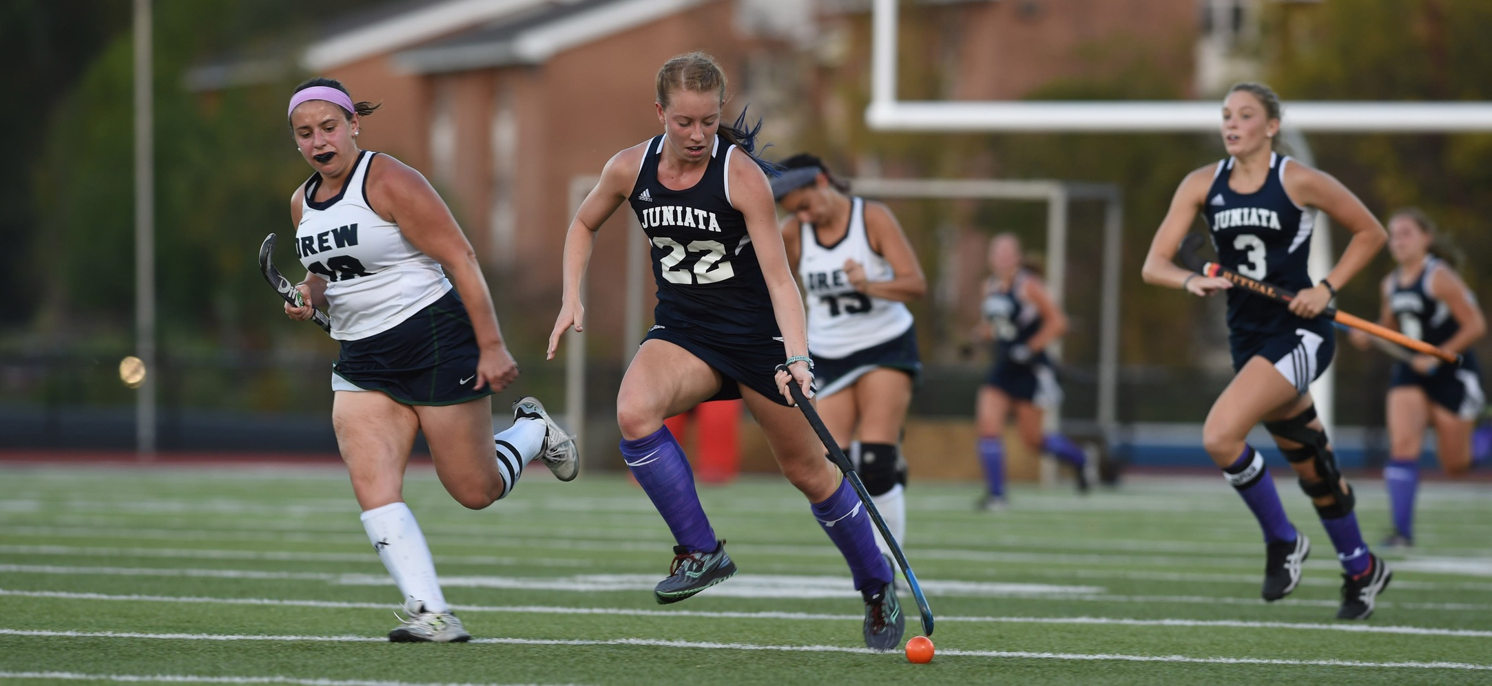 Rebecca Waite tallied two goals in the Eagles 3-2 overtime win against Lebanon Valley.