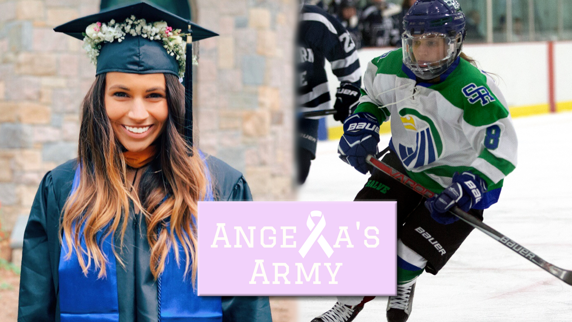 Angela Augusta is a 2019 graduate of Salve Regina and was a four-year member of the women's ice hockey team who was diagnosed with Hodgkin's Lymphoma shortly after graduating.