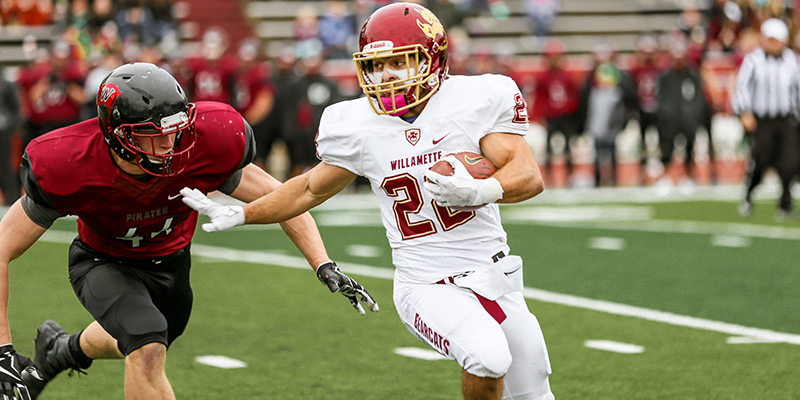 Joey Thurman (Sr., RB, Carson City, NV/Carson HS/Yuba College), Photo courtesy of Whitworth Athletics