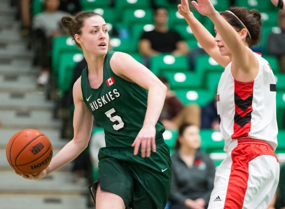 Saskatchewan's Sabine Dukate leads the Huskies in points per game.