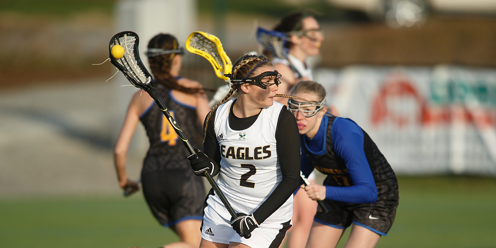 Eagles Advance to NAC Semifinal with Win over Green Mountain; Fallon Records 150th Point