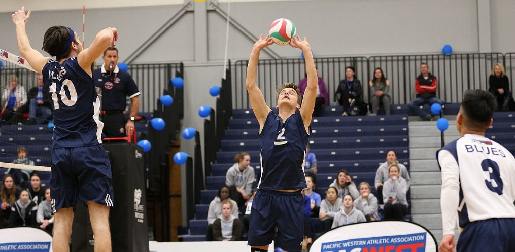 Blues captain Simon Friesen sets up an attack during the PACWEST Provincials.