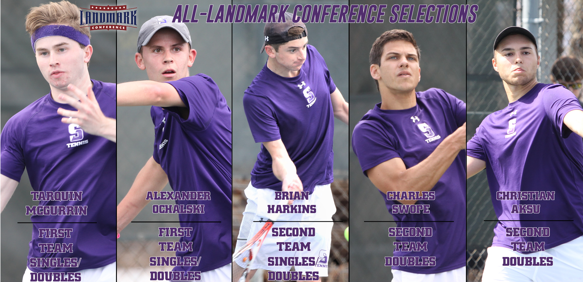McGurrin/Ochalski Earn First Team Honors in both Singles & Doubles in Men's Tennis All-Landmark Selections