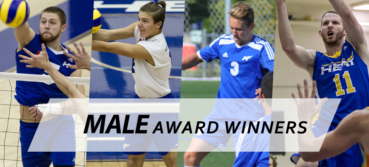Male Award Winners for the 8th Annual Athletics Awards Banquet