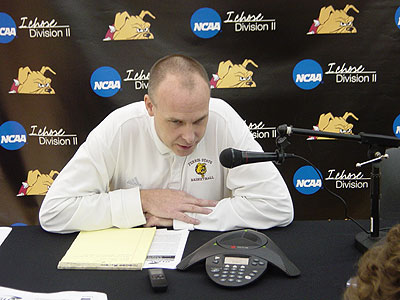 FSU head coach Bill Sall speaks to the media during Wednesday's league teleconference