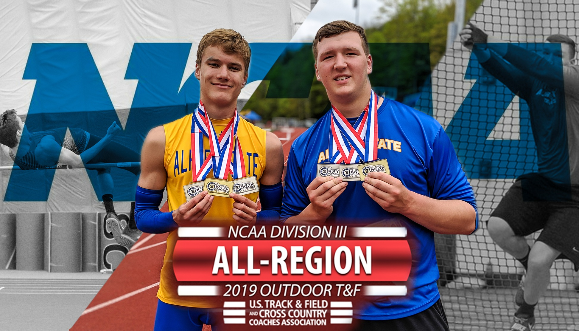 Kemsley and Wadsworth Named All-Region for Outdoor Season