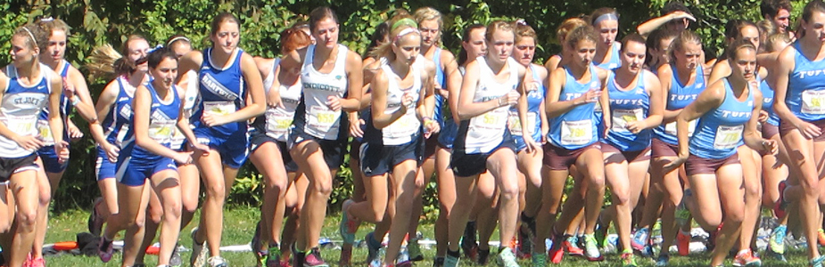 Women's cross country at the starting line