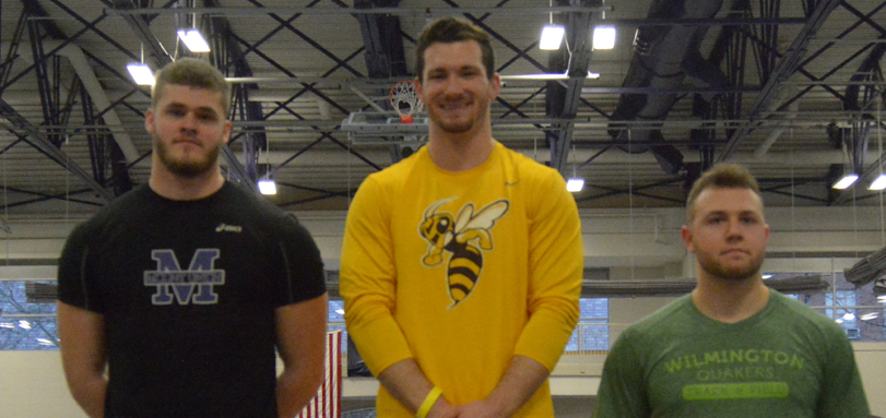 Senior All-OAC thrower Zak Dysert won the weight throw with a career best mark of 60 feet, 2 inches