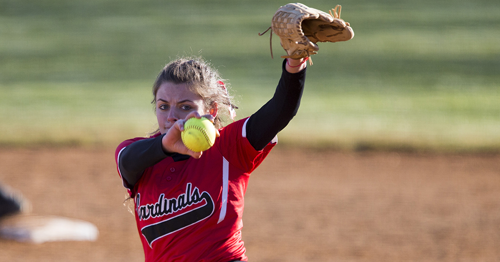 Catholic Softball Sweeps Hood, 4-1 & 1-0
