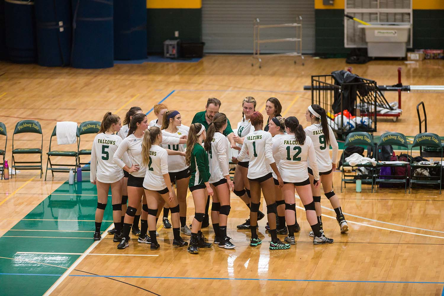 Rams Roll Past Falcons in Volleyball, 3-0