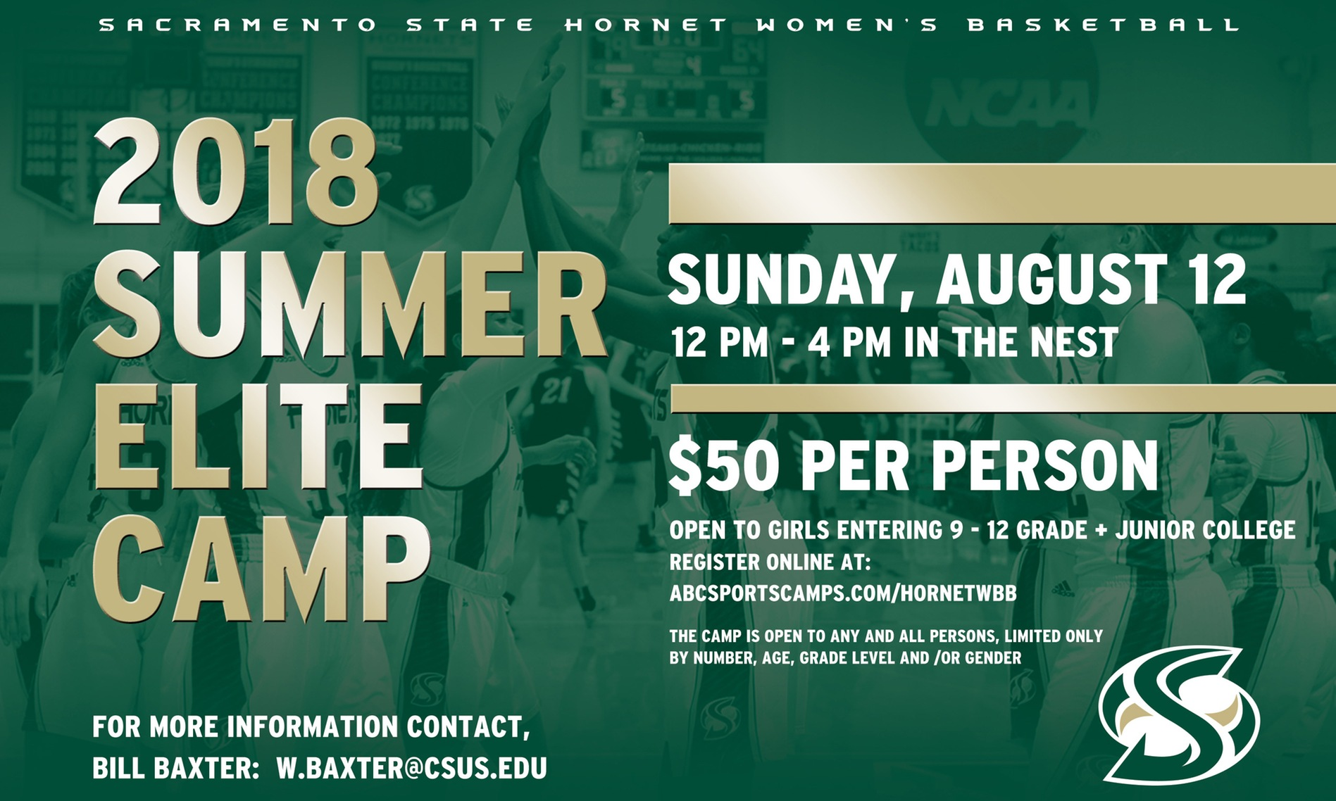 WOMEN'S BASKETBALL HOSTS 2018 ELITE CAMP ON SUNDAY, AUGUST 12