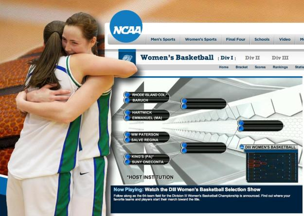 Kaitlyn Birrell and Lindsay Shorey embrace after the Seahawks earned their seventh NCAA Championships bid in the last 11 years. Salve Regina plays at King's (Pa.) College where it draws NJAC winner William Paterson in a first-round match on Friday.