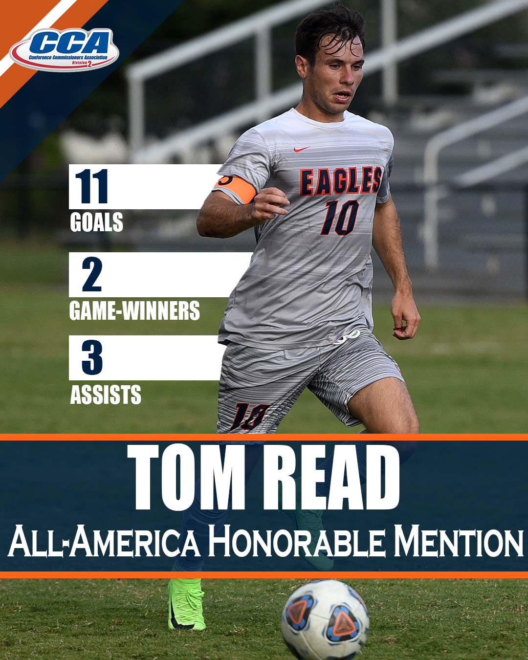 Read picks up D2CCA All-America Honorable Mention