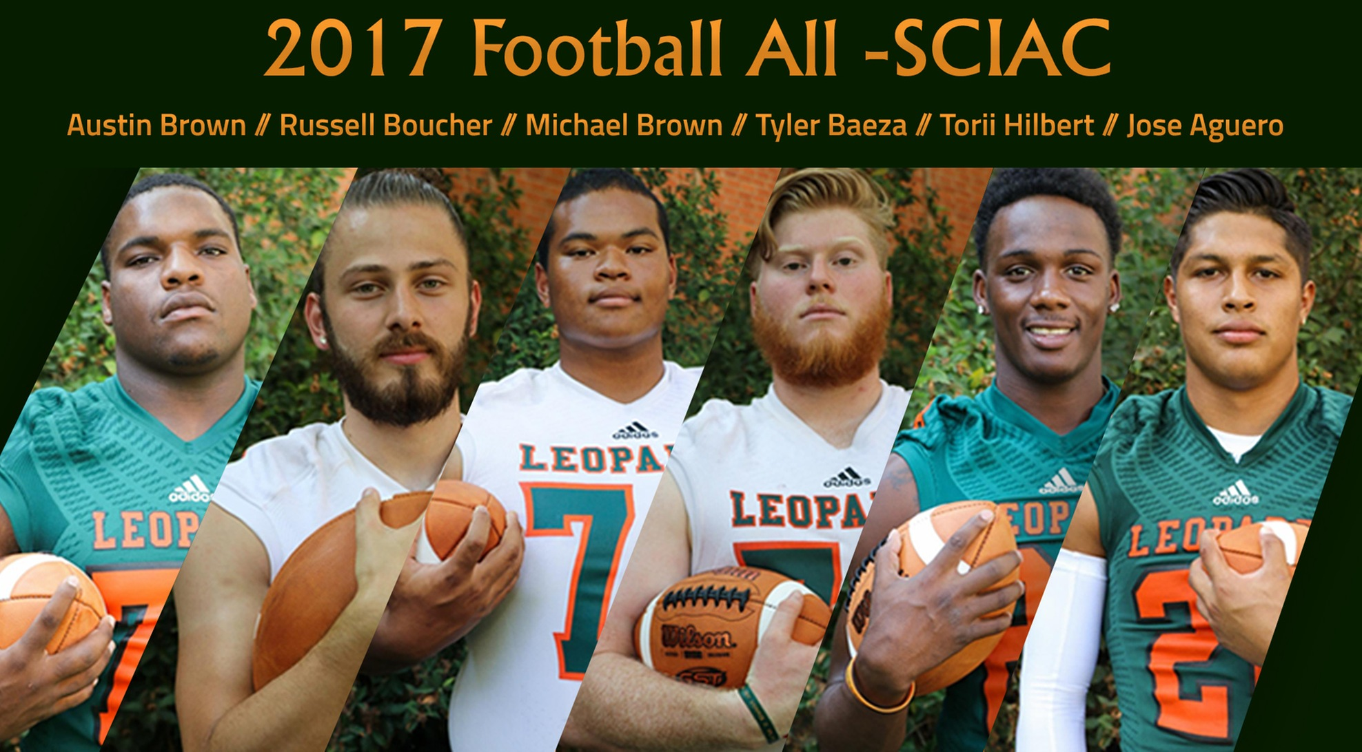 Football lands six on All-SCIAC team