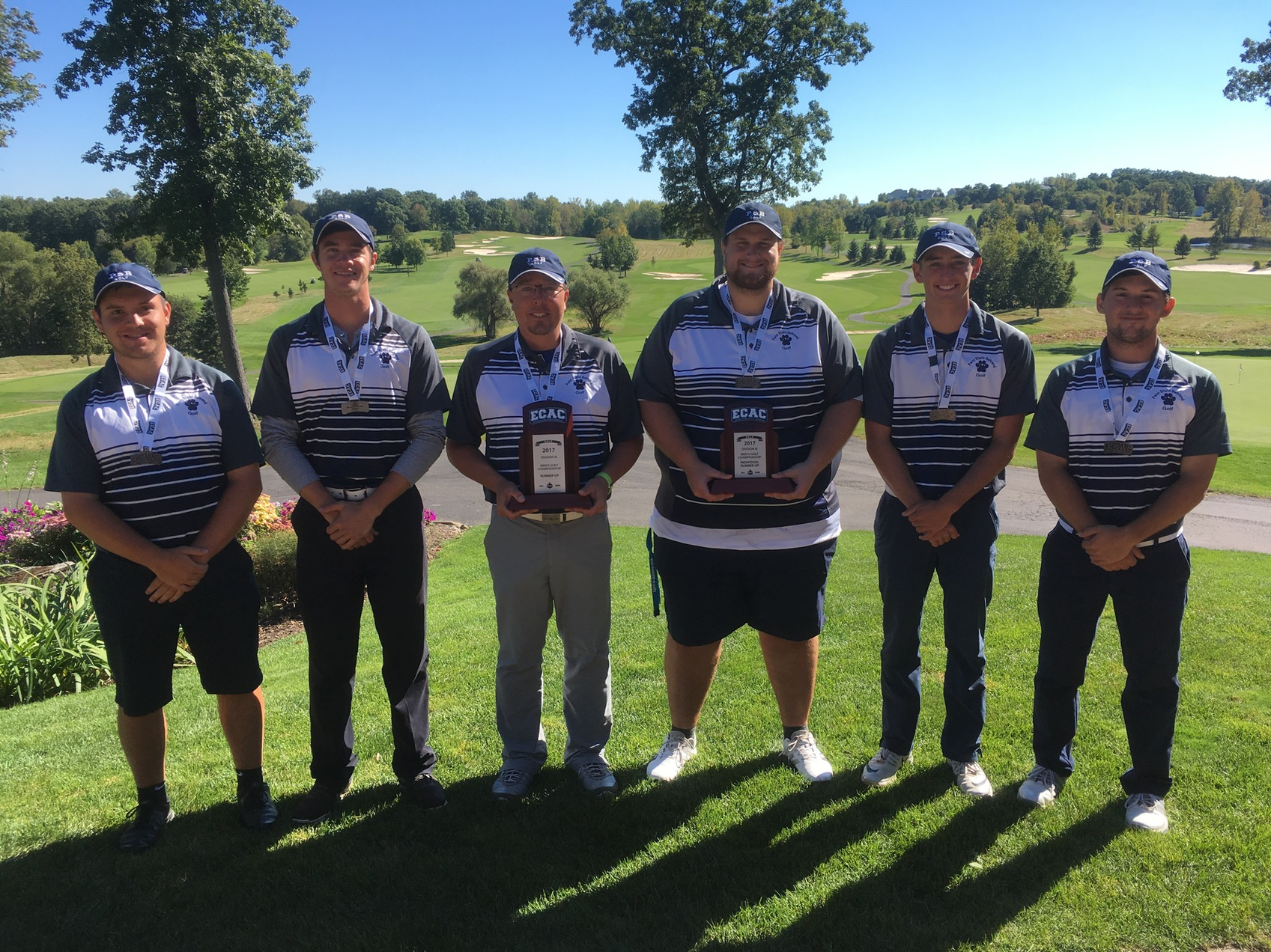 Men's Golf Takes Second at ECAC Championships