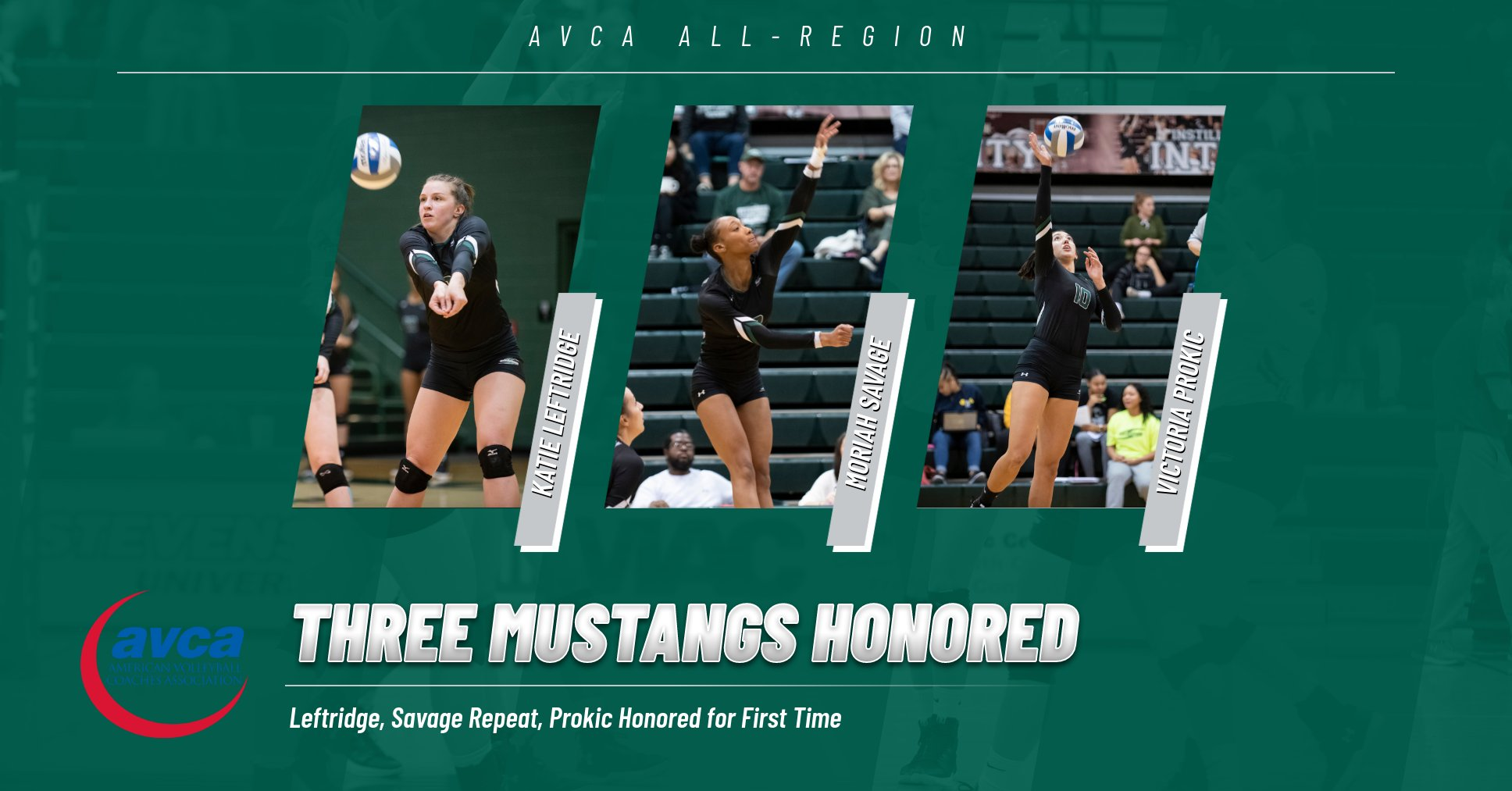 Three From Women's Volleyball Garner AVCA Accolades