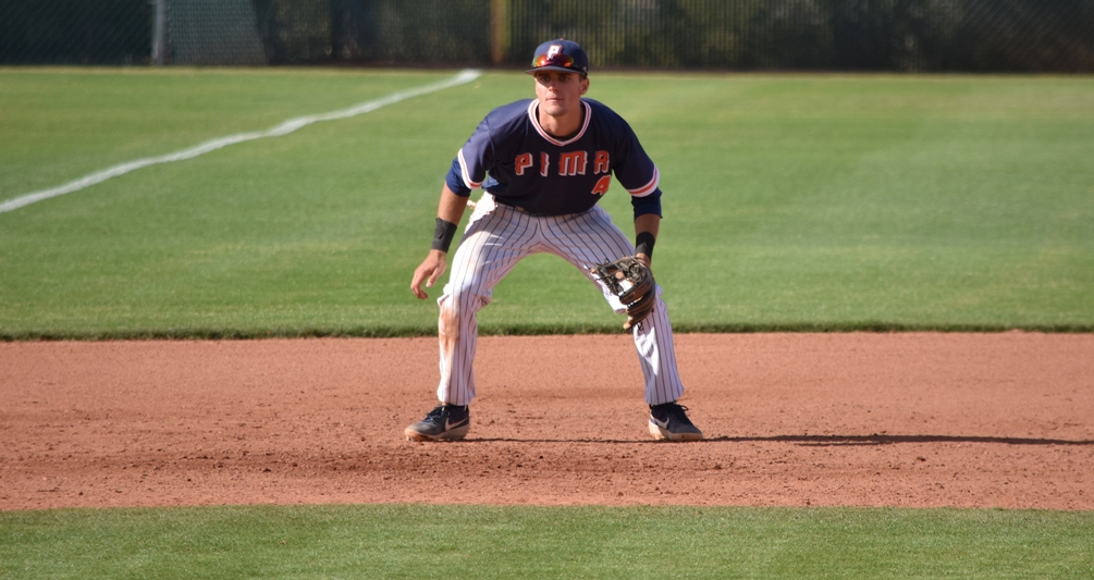 Freshman Cole Cummings was unstoppable at the plate as he went 5 for 7 with 10 RBIs, four runs, three triples, three walks and a home run on the day. The Aztecs won their eighth straight game as they swept Eastern Arizona College. The Aztecs are 34-14 overall and 20-11 in ACCAC conference play. Photo by Ben Carbajal