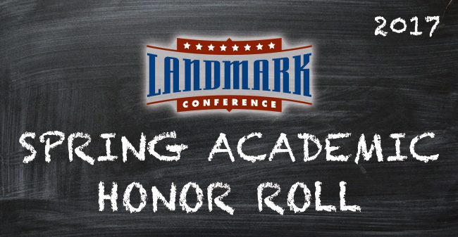 58 Greyhounds Named to 2017 Landmark Conference Spring Academic Honor Roll