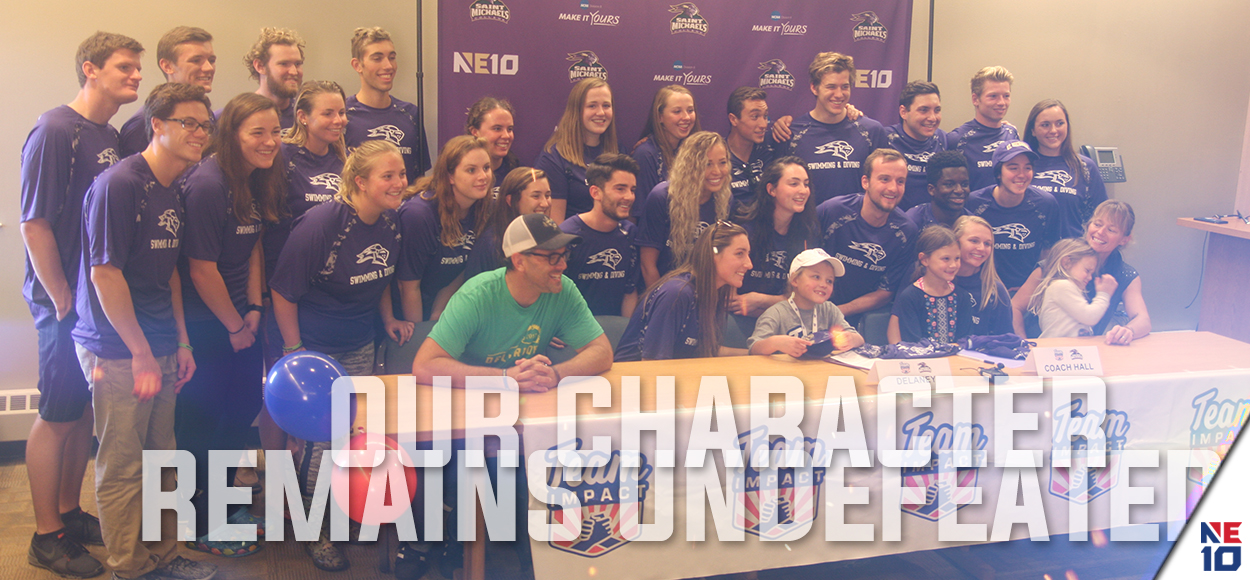 Embrace the Impact: Delaney Joins Saint Michael's Swimming & Diving Through Team Impact