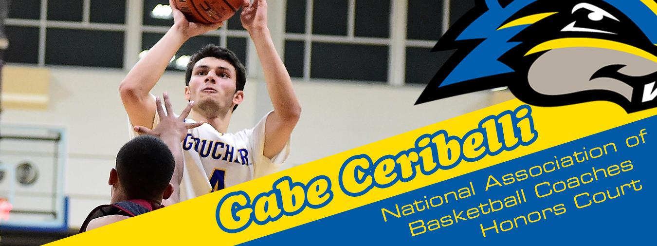 Goucher Men's Basketball Player Gabe Ceribelli Named To The NABC Honors Court For Second-Straight Year