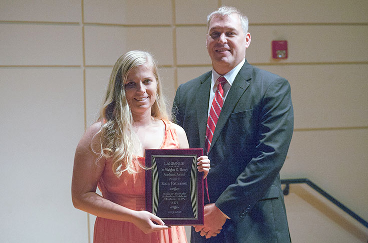 Softball: Kara Patterson receives Dr. Waights G. Henry Academic Award