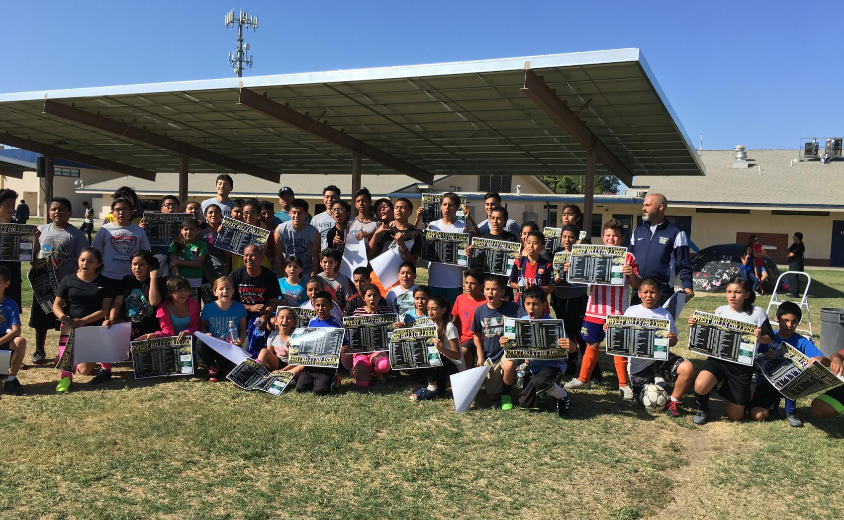 EAGLES INVADE ARMONA FOR SOCCER CLINIC