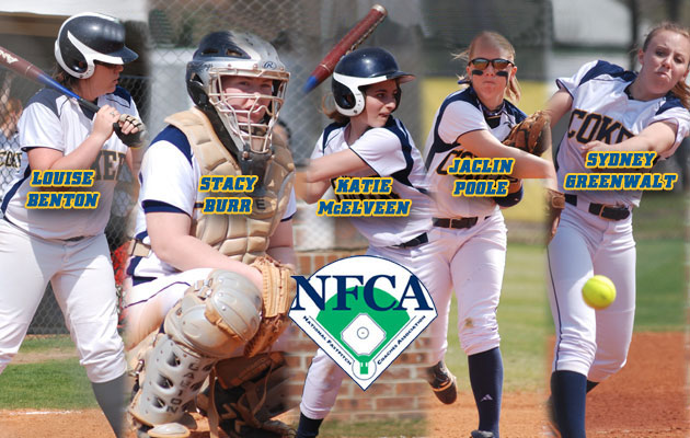 Five Coker Softball Players Named NFCA All-America Scholar Athletes