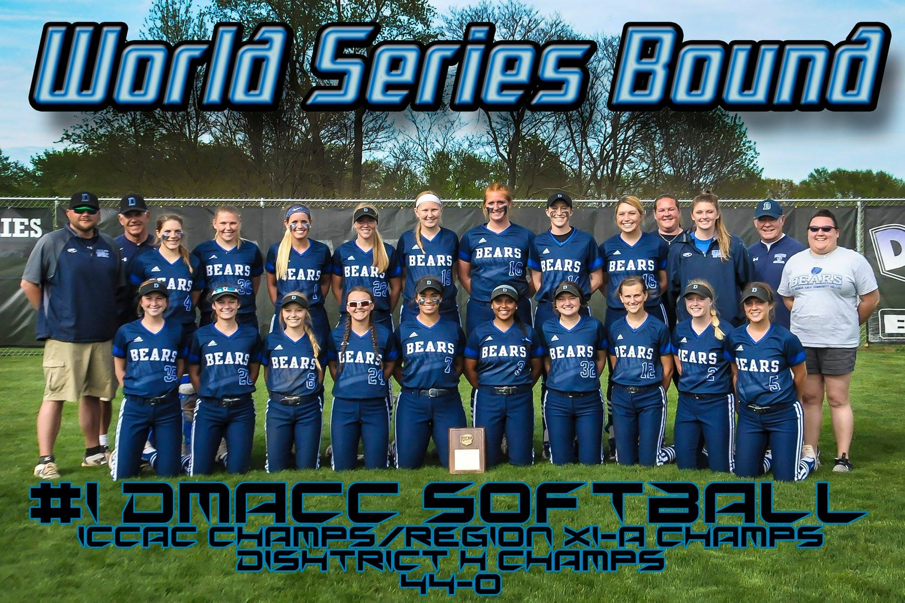 DMACC softball team advances to national tournament after sweeping doubleheader from Dawson