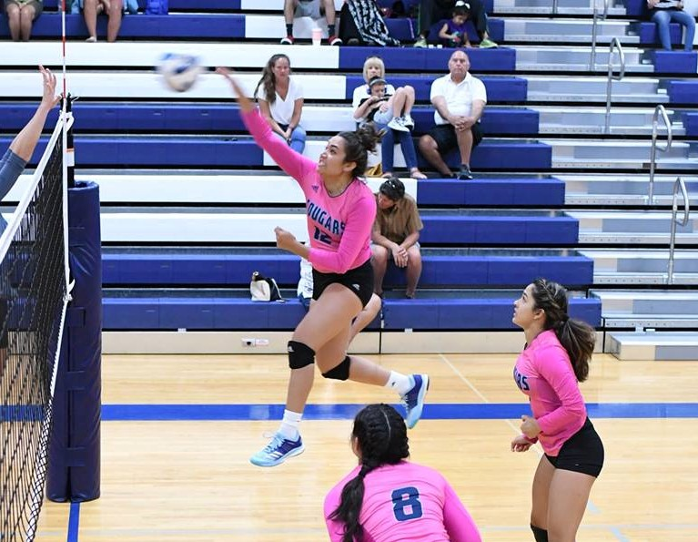 Volleyball Swept by Victoria